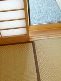 市松畳使用でモダンな印象の和室。