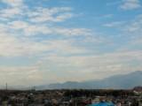 天気の良い日は富士山も見える。