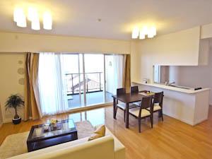 どんなテイストにでも合わせやすいシンプルな家具付きというのも魅力。