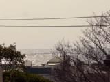 スカイバルコニーから見える海はこんな感じ。