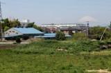 目の前に緑、その向こうには富士山!