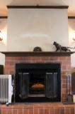 暖炉があるだけでスペシャル感満載。