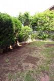 リビング・ダイニング前のバルコニーに面した庭。