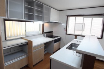 このキッチンの広さ、憧れ!