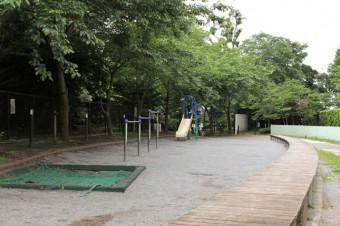 マンション目の前の公園は落ち着いた印象。