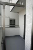 2階バルコニーの物干し場