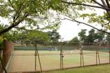 こちらは茅ヶ崎公園の庭球場。