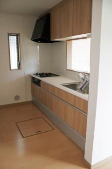 シャワー切り替え水栓・浄水器付きキッチン