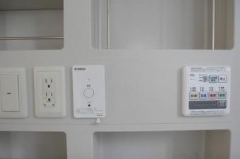 iPodなどの音楽機器を接続できる浴室設備