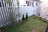 庭の芝生がうれしい。B棟。