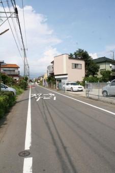 県道43号線に向かう道