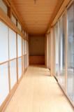 和室脇の廊下、まるで料亭みたい。