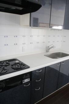 浄水栓付きシステムキッチン