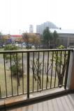 バルコニーから見下ろす小中島公園