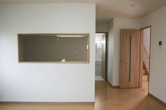 14.5帖で対面式キッチンの広々したLDK