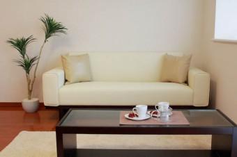 ワイド広めのリビングテーブルは来客時に活躍。