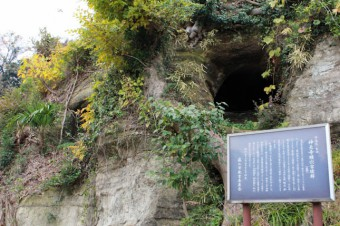 神光寺横穴古墳群。100基以上あるらしい。